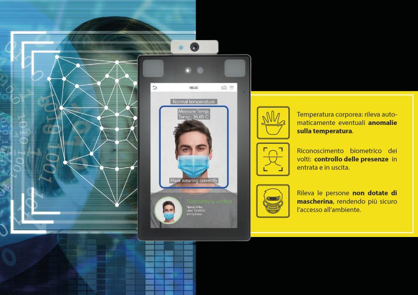 Dispositivi di rilevazione temperatura e riconoscimento facciale